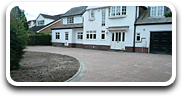 Large Arc Tarmac Driveway with Block Paving