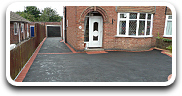 House Tarmac Driveway with paved edging