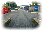 an image of an industrial unit with tarmac loading bay