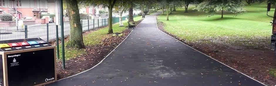 Park tarmac pathway example